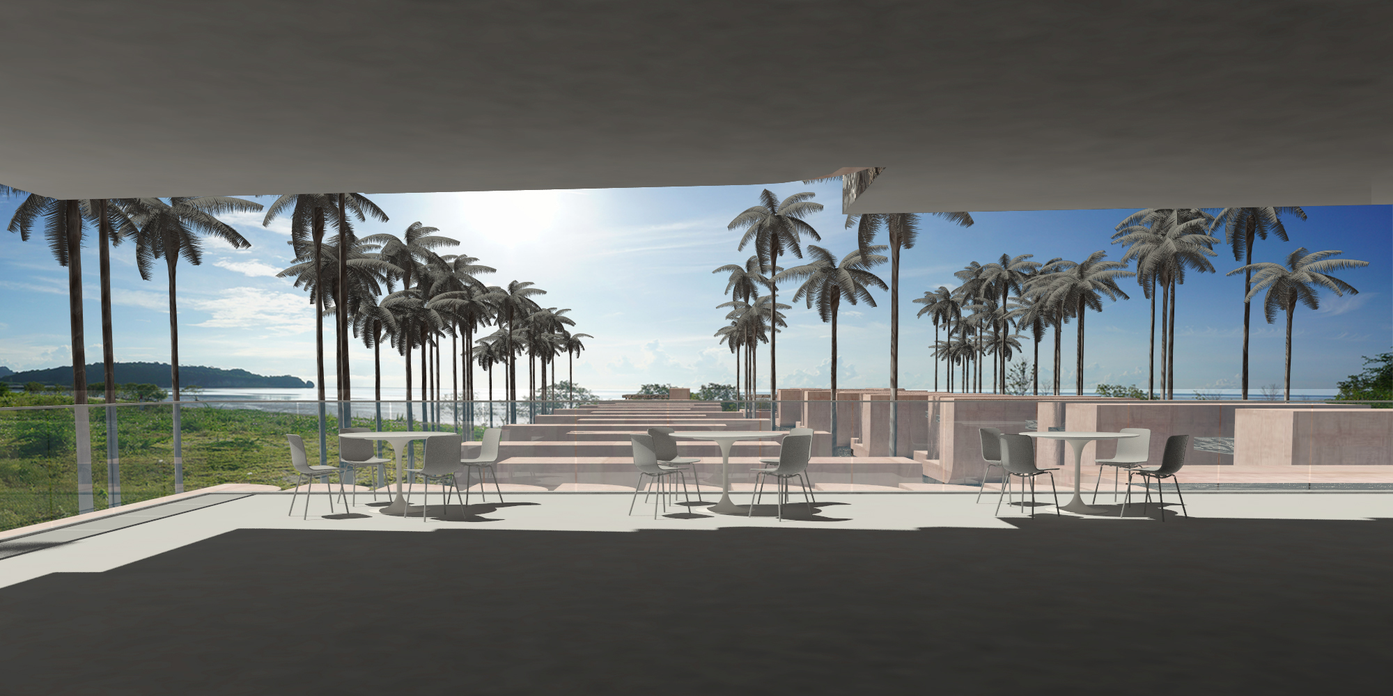 spatial practice architecture office Los Angeles Hong Kong Acts Hotel Hua Hin Thailand restaurant view sea