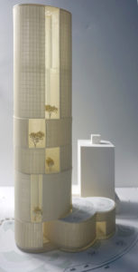 spatial practice architecture office Los Angeles Hong Kong Hengqin exchange square mixused tower zhuhai china model overall view