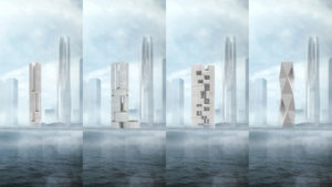 spatial practice architecture office Los Angeles Hong Kong Hengqin exchange square mixused tower zhuhai china process massing studies