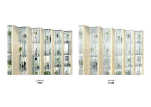 spatial practice architecture office Los Angeles Hong Kong aquatic residential tower shenyang china concept winter summer