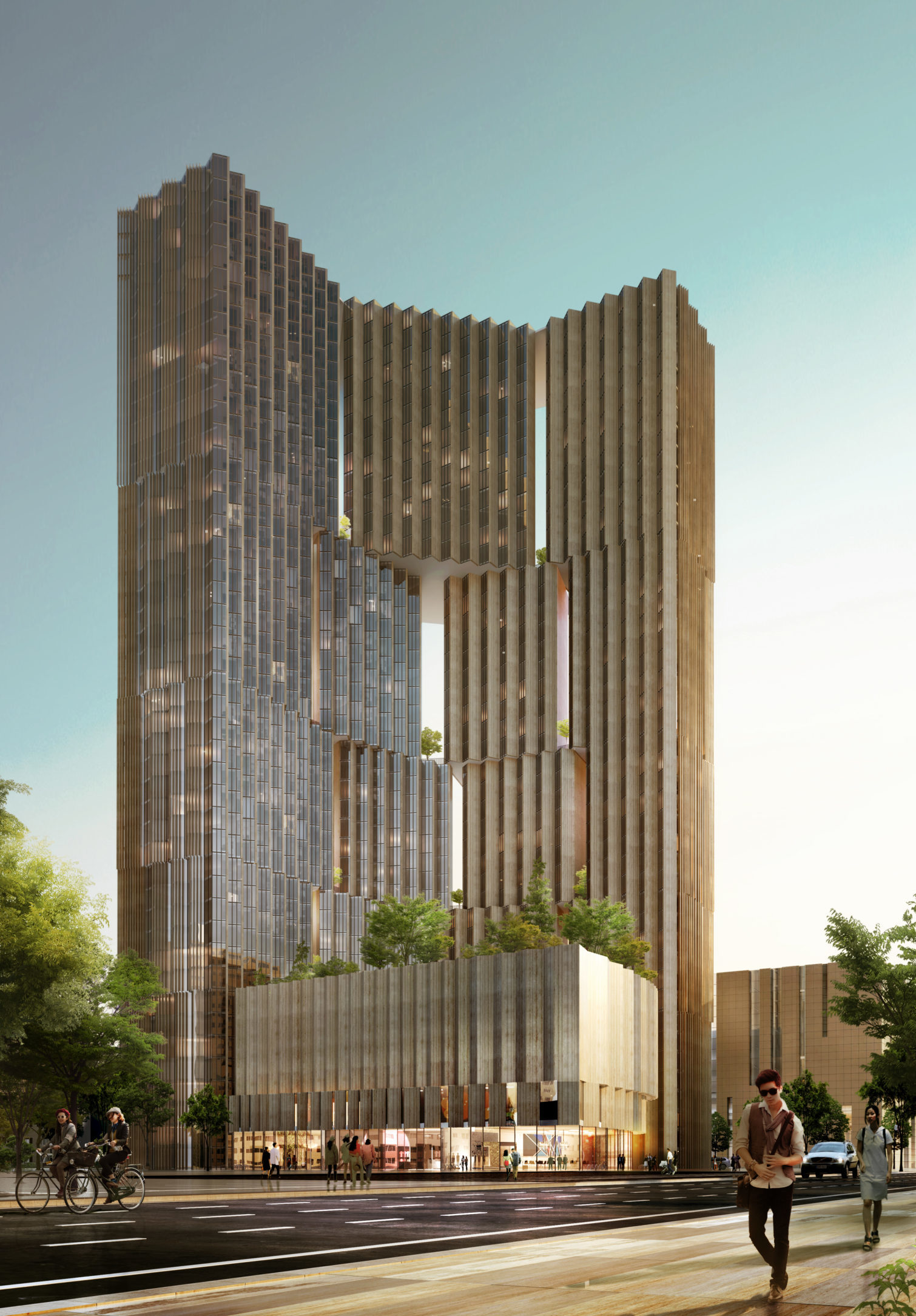 spatial practice architecture office Los Angeles Hong Kong aquatic residential tower shenyang china spring street