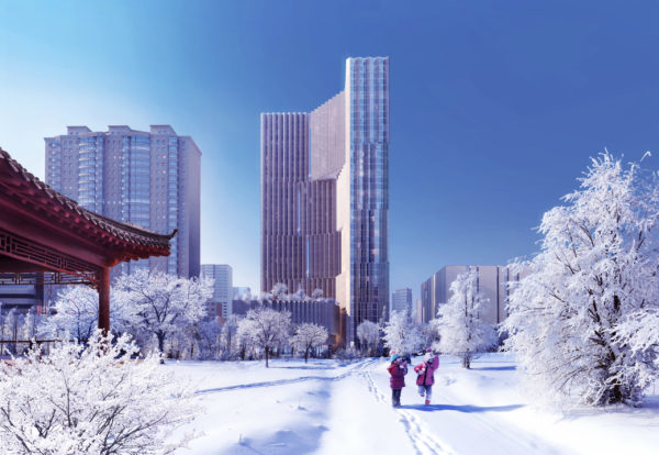 spatial practice architecture office Los Angeles Hong Kong aquatic residential tower shenyang china winter park view