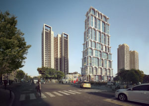 spatial practice architecture office Los Angeles Hong Kong arcade residential tower kaohsiung taiwan corner street day