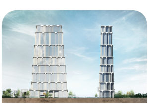 spatial practice architecture office Los Angeles Hong Kong arcade residential tower kaohsiung taiwan elevations