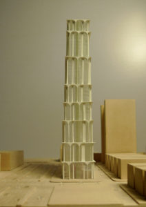 spatial practice architecture office Los Angeles Hong Kong arcade residential tower kaohsiung taiwan model day side elevation