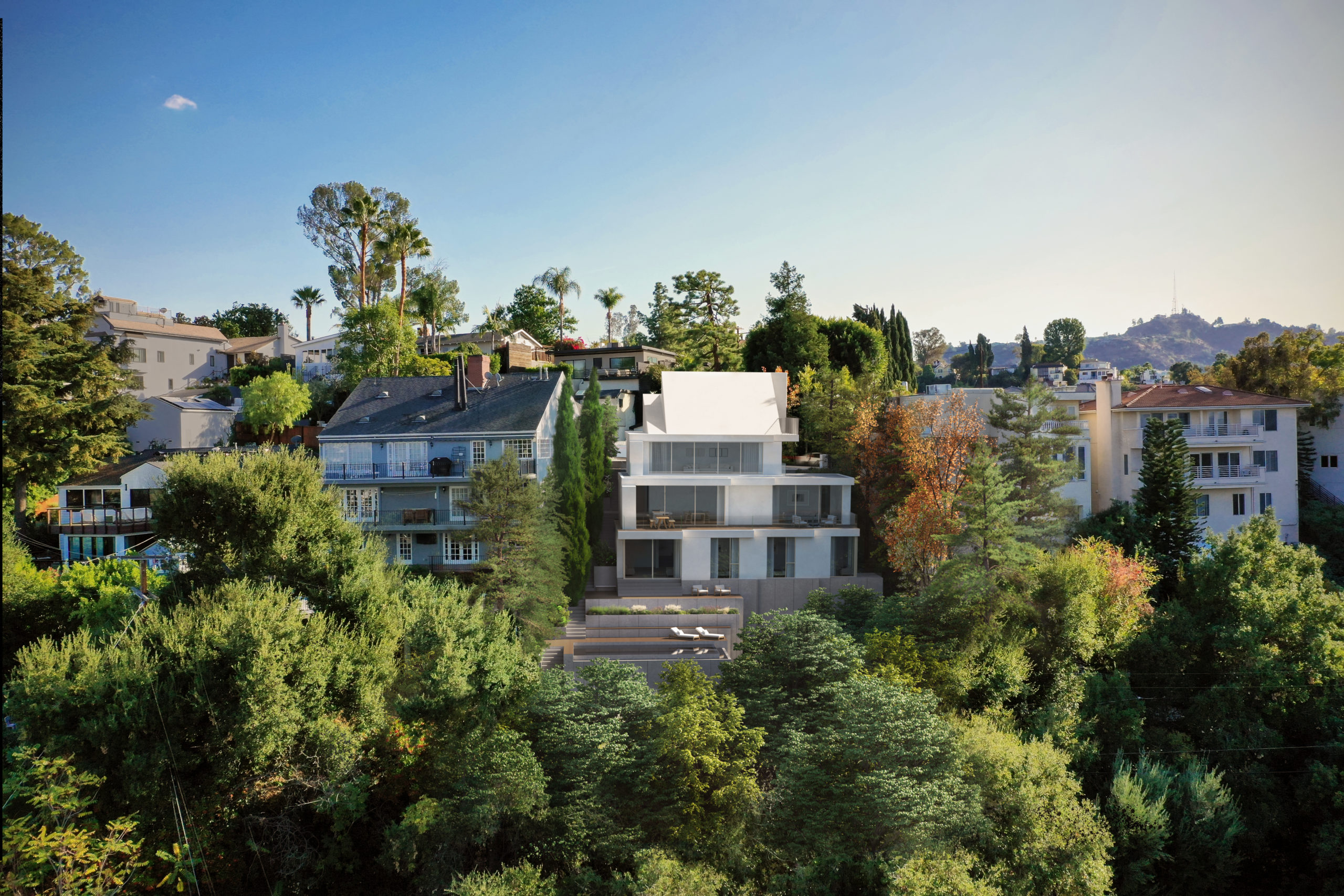 spatial practice architecture office Los Angeles Hong Kong cascading residence hills los angeles usa Hollywood hills lifestyle trees