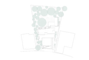spatial practice architecture office Los Angeles Hong Kong cascading residence hills los angeles usa roof plan trees
