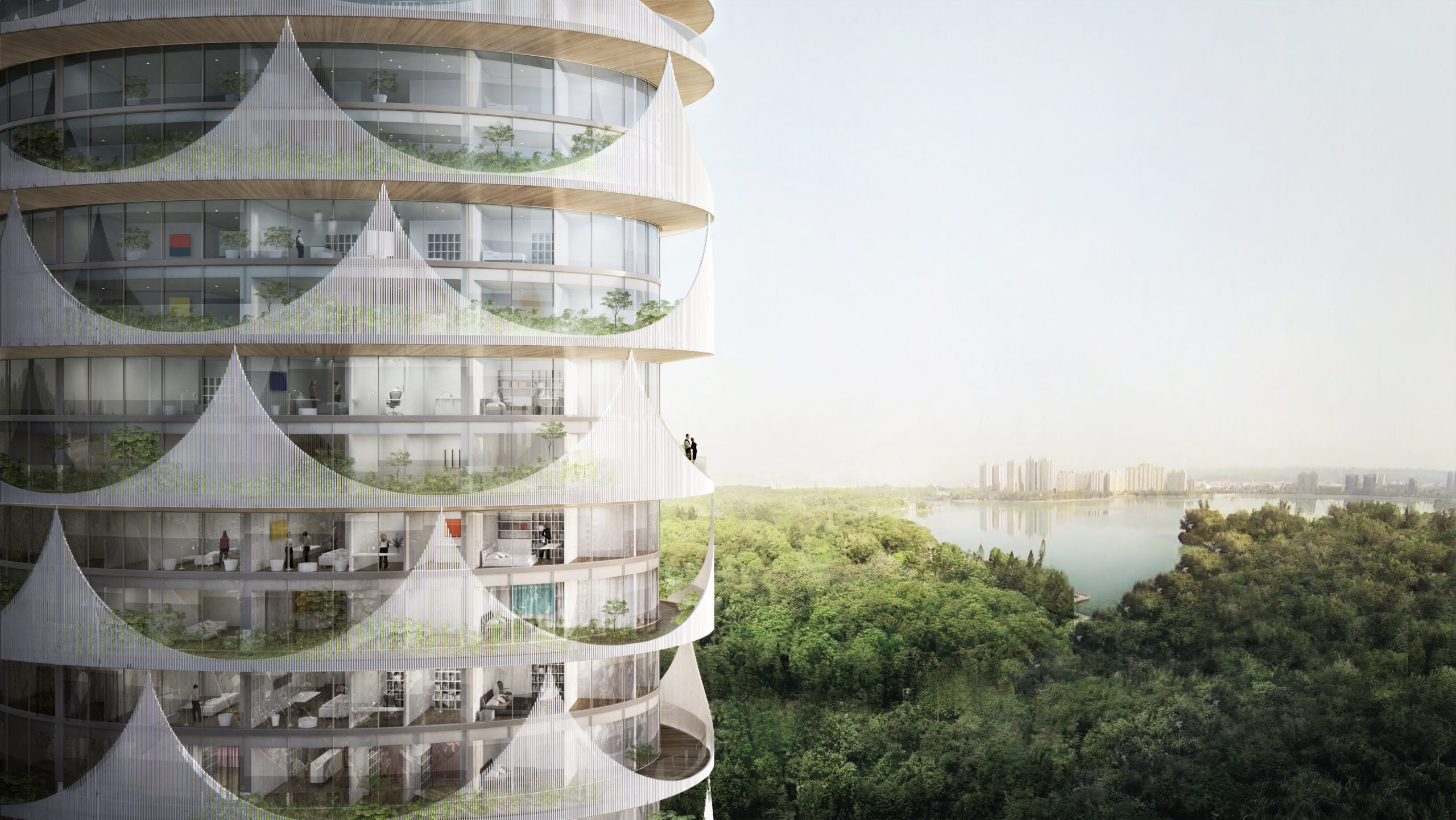 spatial practice architecture office Los Angeles Hong Kong chengcing residential tower kaohsiung taiwan lake view