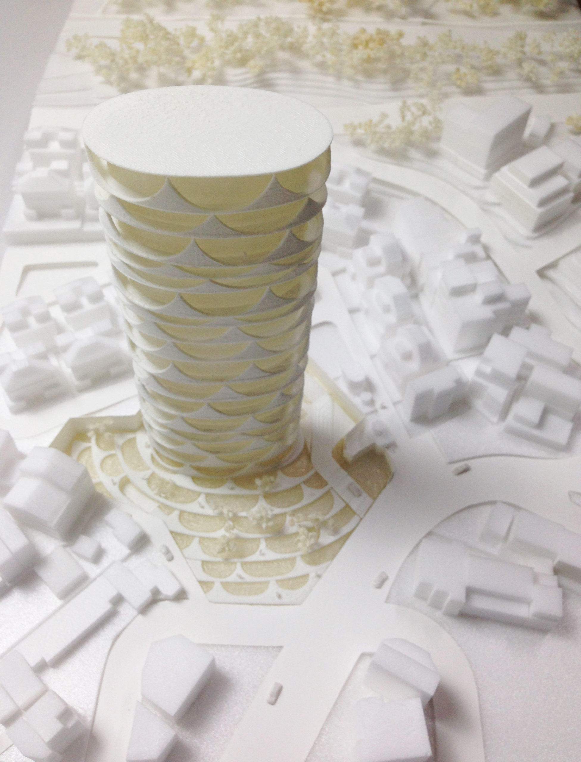 spatial practice architecture office Los Angeles Hong Kong chengcing residential tower kaohsiung taiwan model roof view