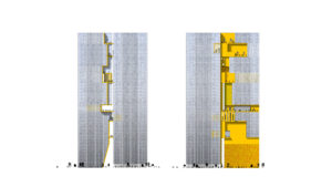 spatial practice architecture office Los Angeles Hong Kong ecospine twin towers cbd beijing china elevations