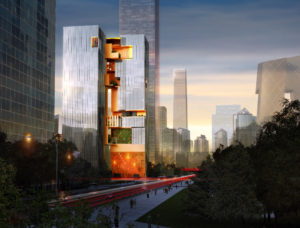 spatial practice architecture office Los Angeles Hong Kong ecospine twin towers cbd beijing china sunset street view
