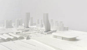 spatial practice architecture office Los Angeles Hong Kong harbin twin towers harbin china model snow