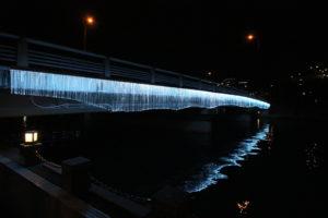 spatial practice architecture office Los Angeles Hong Kong indigo digital waterfall light installation tokushima japan light drops