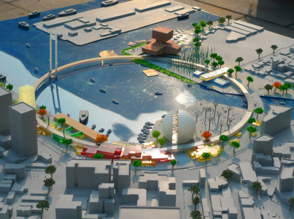 spatial practice architecture office Los Angeles Hong Kong maritime pop center master plan tower kaohsiung taiwan view
