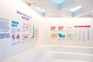 spatial practice architecture office Los Angeles Hong Kong m+ museum pavilion art basel hong kong info wall