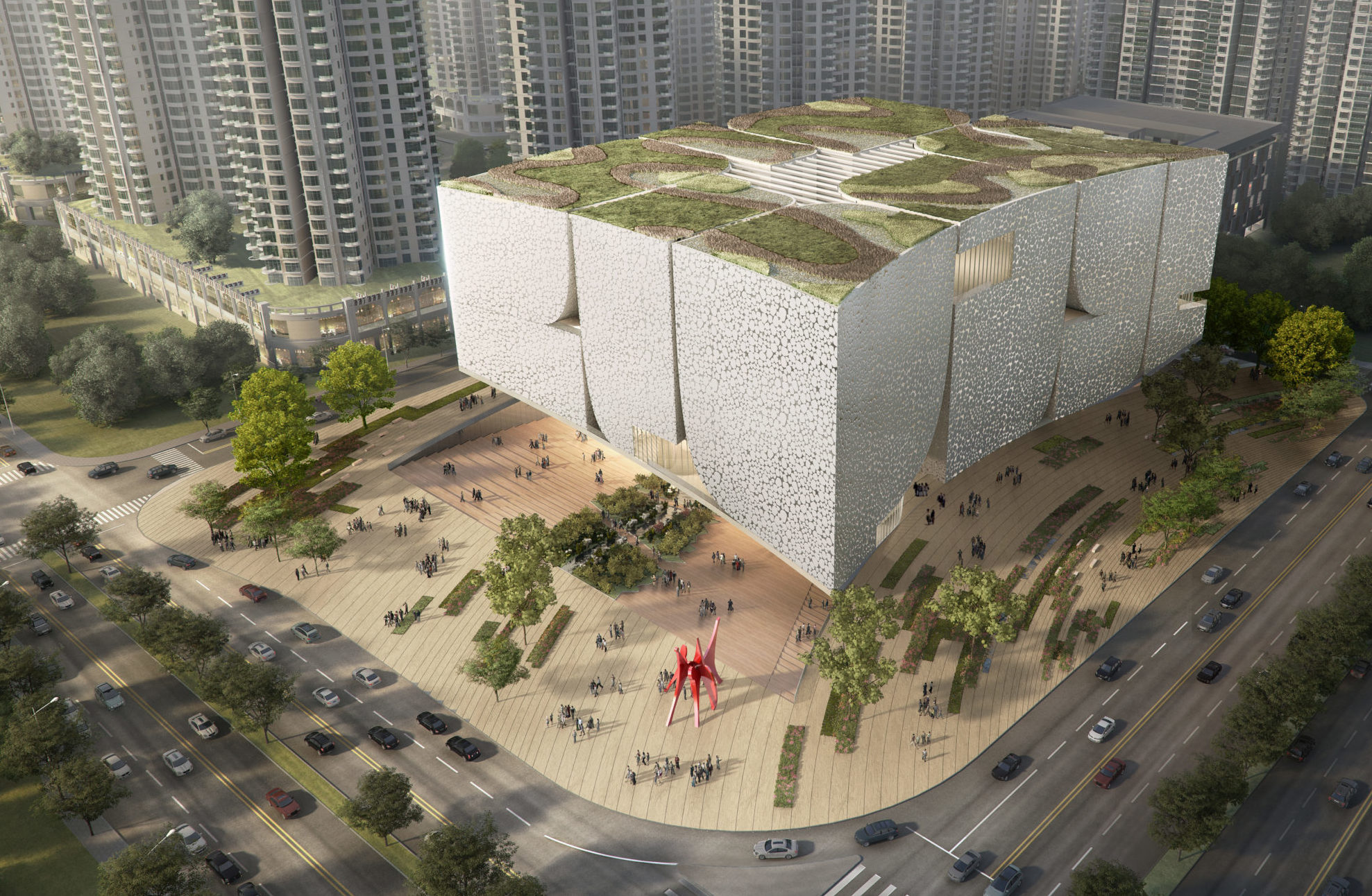 spatial practice architecture office Los Angeles Hong museum contemporary art baoan china birds eye view