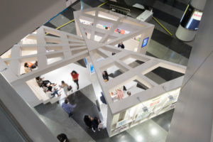 spatial practice architecture office Los Angeles Hong Kong museum plus pavilion art basel hong kong view up