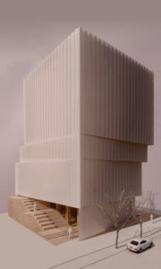 spatial practice architecture office Los Angeles Hong Kong taiwan lighting showroom taichung taiwan model facade on off
