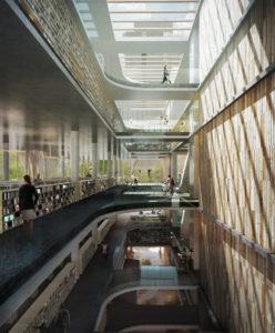 spatial practice architecture office Los Angeles Hong Kong varna public library varna bulgaria atrium perspective
