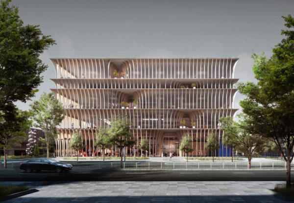 spatial practice architecture office Los Angeles Hong Kong varna public library varna bulgaria facade perspective