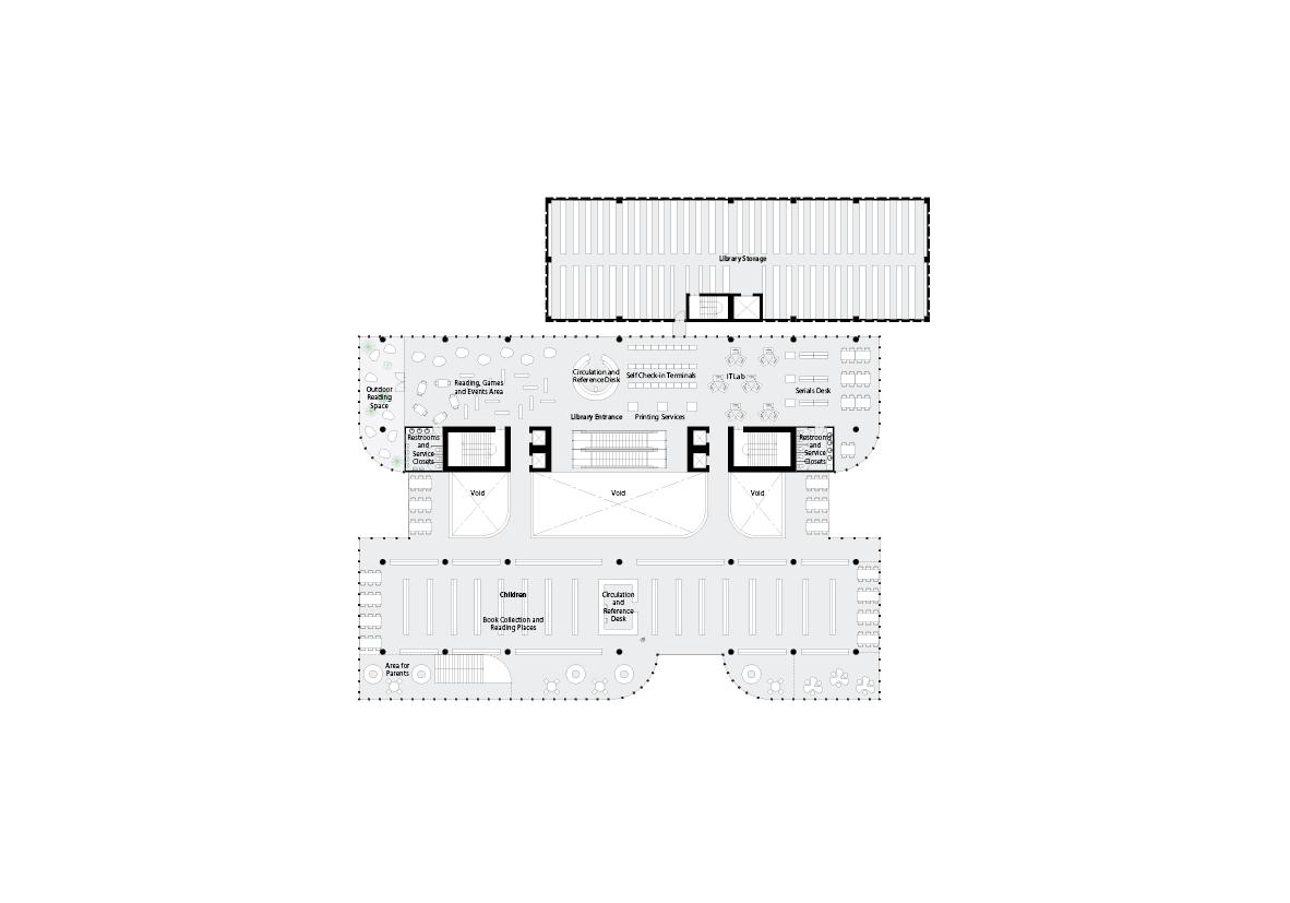 spatial practice architecture office Los Angeles Hong Kong varna public library varna bulgaria plan 02
