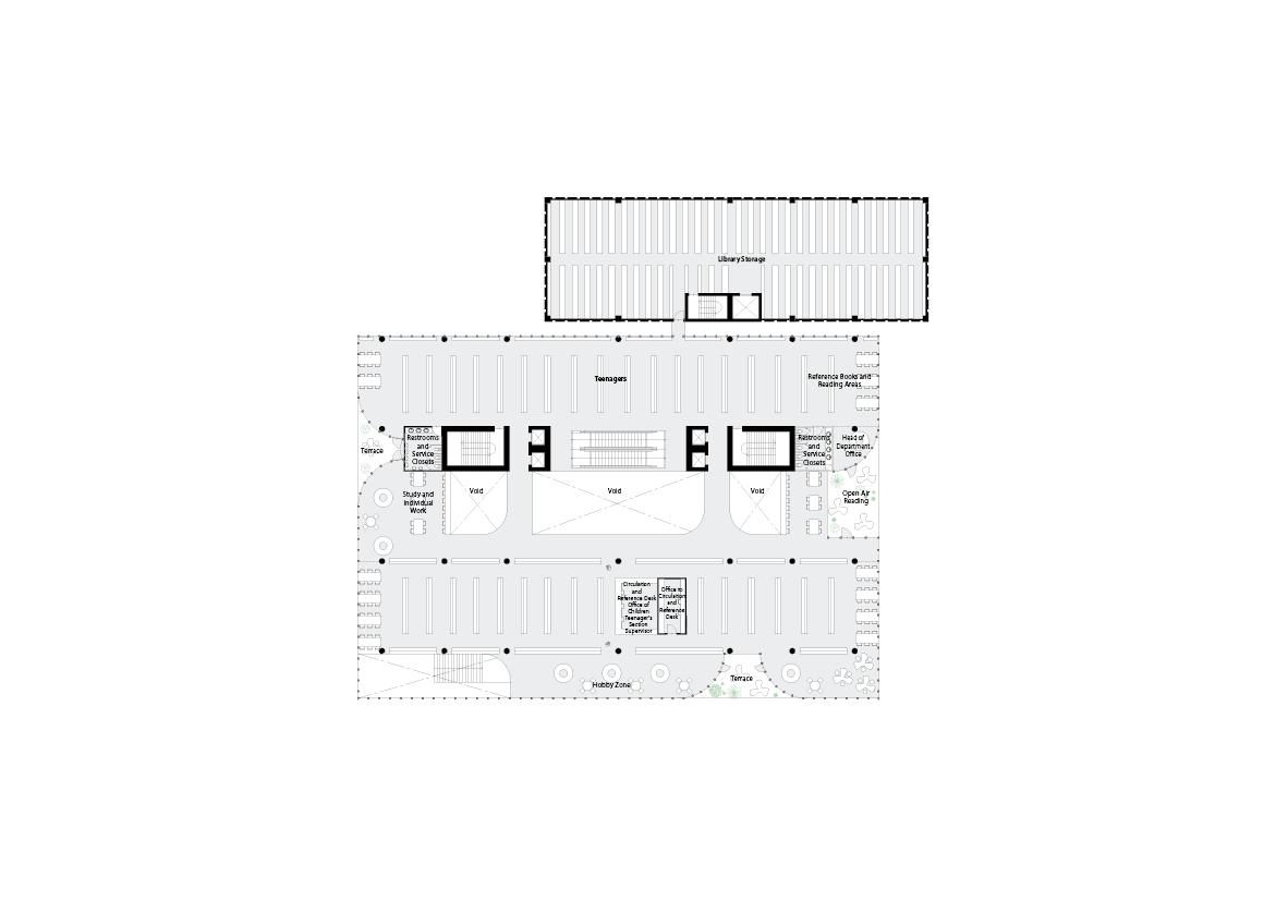 spatial practice architecture office Los Angeles Hong Kong varna public library varna bulgaria plan 03
