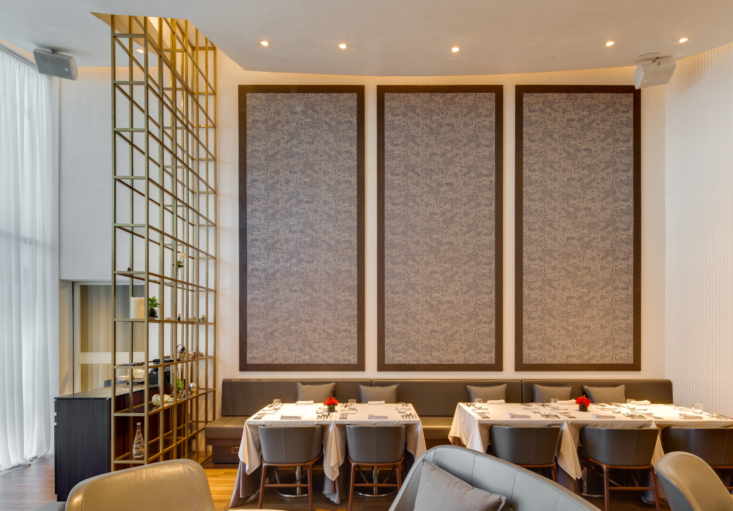 spatial practice architecture office Los Angeles Hong Kong Fleur de sel restaurant taichung taiwan interior wall canvas