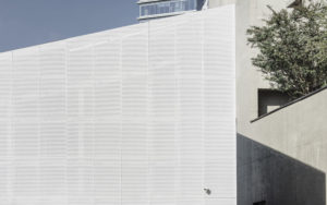 spatial practice architecture office Los Angeles Hong Kong Fleur de sel restaurant taichung taiwan white perforated meta side