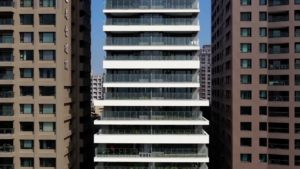 spatial practice architecture office Los Angeles Hong Kong one more residential tower Kaohsiung taiwan drone down