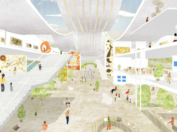 spatial practice architecture office Los Angeles Hong Kong Guggenheim Helsinki Museum lobby